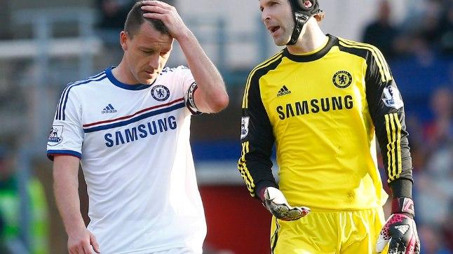 John Terry (vasakul) ja Petr Cech