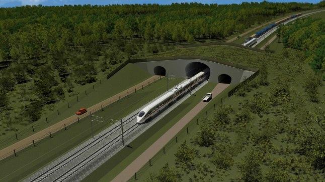 ILUS UNELM: Selline näeb Rail Baltic välja kunstniku nägemuses. Sellise raudtee vastu poleks küllap meist kellelgi midagi, kui vaid kaupu ja reisijaid jätkuks ning asi majanduslikult mõttekas oleks.