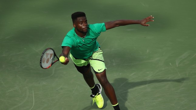 2017 Miami Open - Day 4 KEY BISCAYNE, FL - MARCH 23: Frances Tiafoe of USA in action against Konstantin Kravchuk of Russia at Crandon Park Tennis Center on March 23, 2017 in Key Biscayne, Florida.   Julian Finney/Getty Images/AFP == FOR NEWSPAPERS, INTERNET, TELCOS & TELEVISION USE ONLY ==