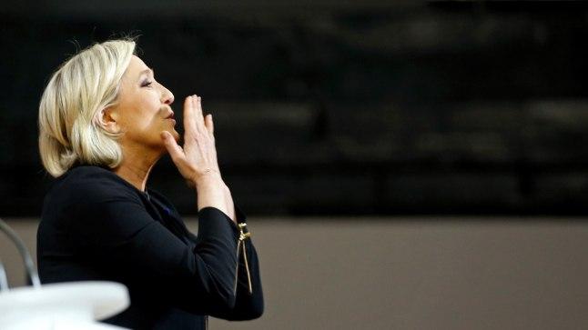 Prantsusmaa Rahvusrinde juht Marine Le Pen (48).