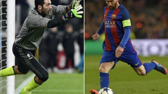 Täna õhtul: Gianluigi Buffon vs Lionel Messi.