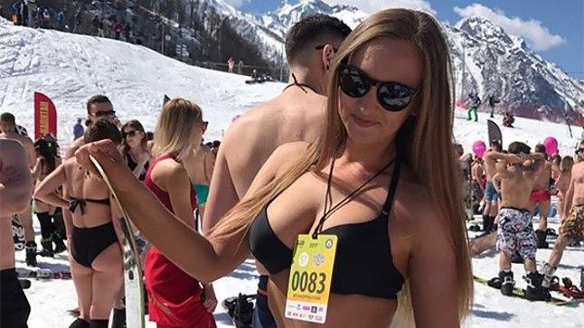 Mäesuusa- ja lumelauapidu Sotšis, olümpianõlvadel.