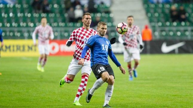 Eesti jalgpallikoondis alistas 3:0 Horvaatia.