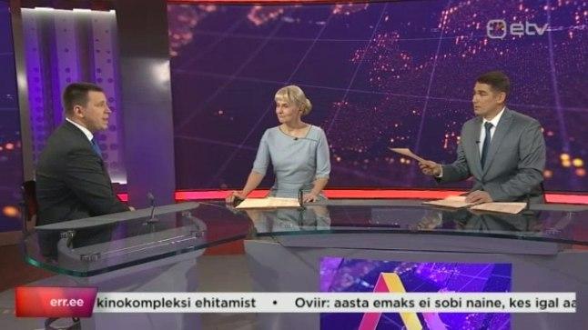 HEITLUS OTSE-EETRIS: Astrid Kannel ja Priit Kuusk esitasid «Aktuaalses kaameras» Jüri Ratasele küsimusi, millele peaminister ei tahtnud vastata.