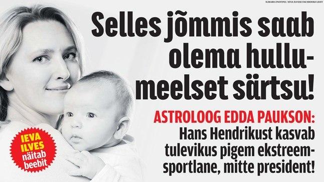 Edda Paukson: Ieva ja Toomas Hendriku pojast võib saada pigem ekstreemsportlane, mitte president