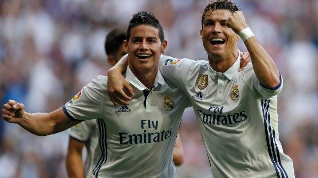 James Rodriguez Cristiano Ronaldoga.