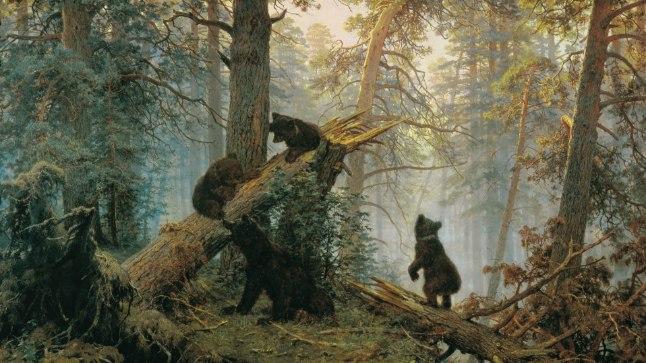 Картина русских художников Ивана Шишкина и Константина Савицкого