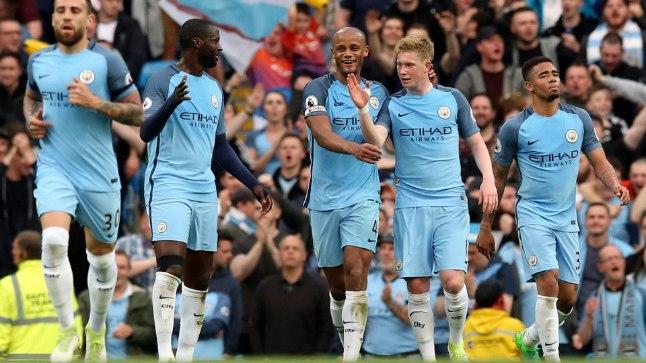 Manchester City mängijad saavad täna õhtul võitu tähistada.