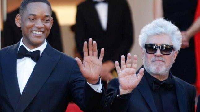 Almodovar ja Smith Cannes'i avapidustusel.