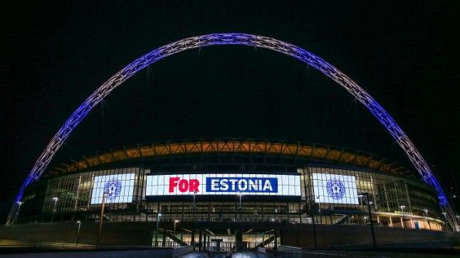Wembley staadion Eesti värvides.