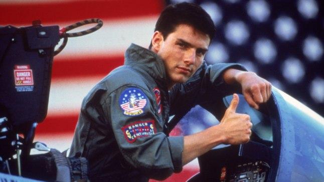 "Tom Cruise filmis ""Top Gun"""