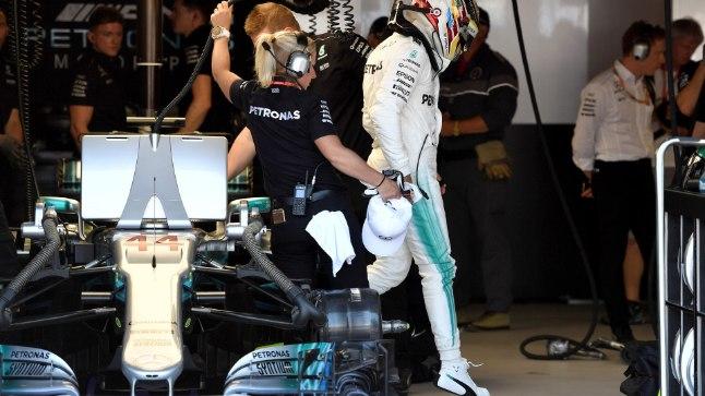Lewis Hamilton pärast kvalifikatsiooni.