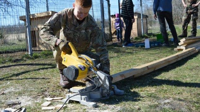 Briti sõdurid käisid loomade varjupaigas talgutel