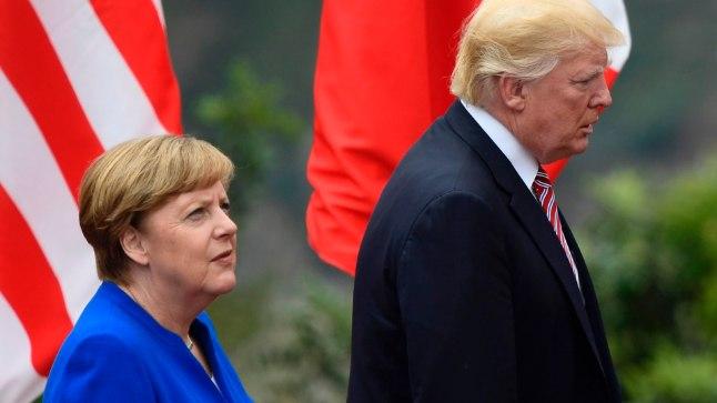 Merkel nentis pärast Trumpiga kohtumiste: Euroopa peab ise hakkama saama. AFP/Scanpix