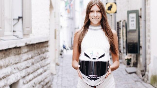 KAUNITAR JA KIIVER: Motosõitja Anastassia Kovalenko end profisportlaseks ei pea.