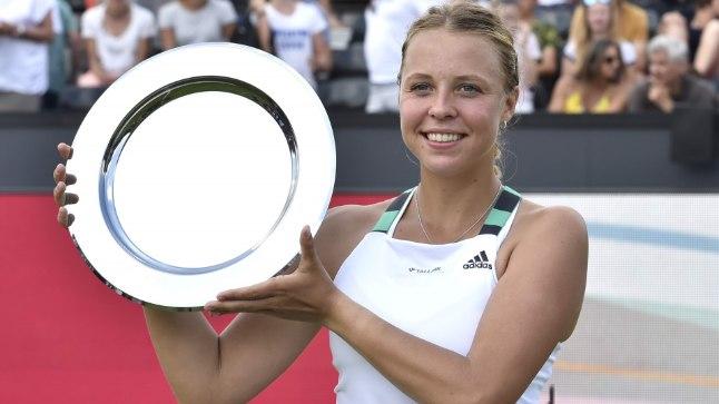 Anett Kontaveit Den Boschi turniiri esikohaauhinnaga.
