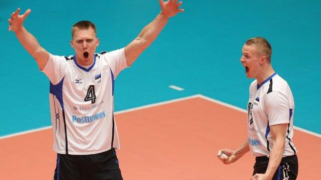 Ardo Kreek (nr4) ja Andrus Raadik võivad rõõmustada - nagu kogu Eesti koondis!