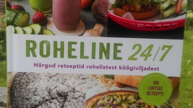 """Jessica Nadeli raamat """"Roheline 24/7. Hõrgud retseptid rohelistest köögiviljadest."""" (kirjastus Varrak)"""