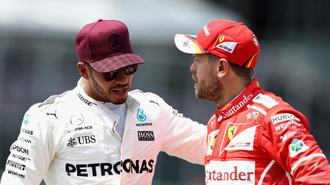 Sebastian Vettel (paremal) ja Lewis Hamilton.