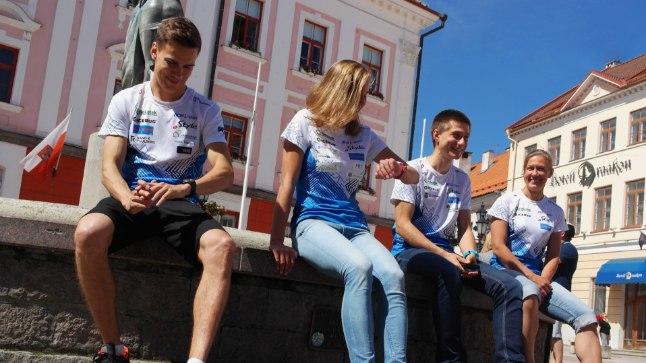 Eesti lootused algaval MM-il on Kenny Kivikas, Evely Kaasiku ja Timo Sild. Pildil ka treener Elo Saue