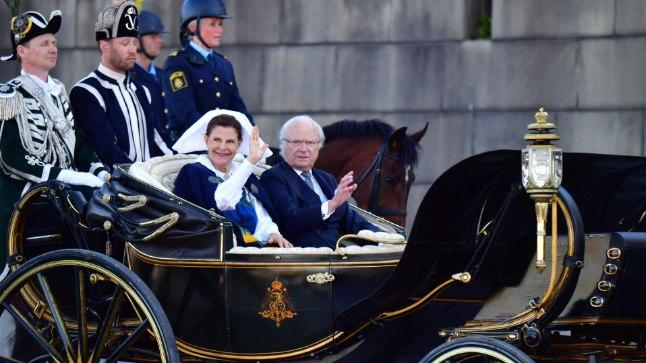 Rootsi rahvuspüha 6. juunil 2017: kuninganna Silvia ja kuningas Carl Gustaf