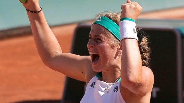 Jelena Ostapenko võidujoovastus.