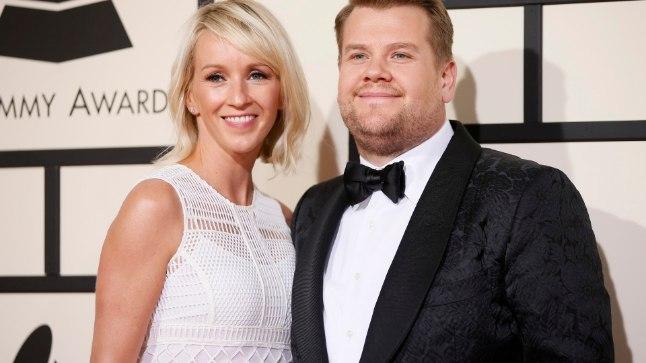 James Corden koos abikaasa Juliaga