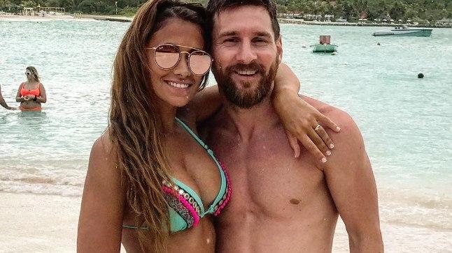 Lionel Messi ja Antonella Roccuzzo.