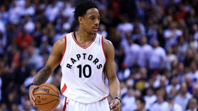 DeMar DeRozan Toronto Raptorsi särgis.