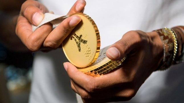 Pariisi olümpiamedalite võimalik disain.