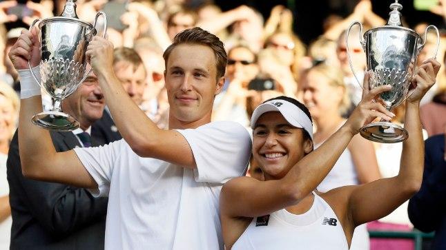 Henri Kontinen võitis mullu koos Heather Watsoniga Wimbledonis segapaarismängu.