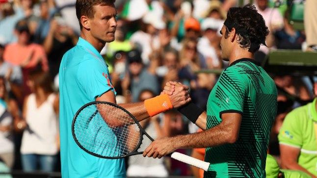 Viimases omavahelises kohtumises Miamis  alistas Roger Federer Tomas Berdychi 7:6, 7:6.