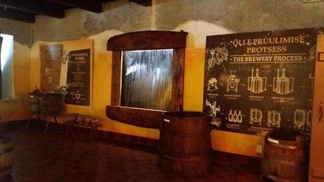 Näitus õlletootmise ajaloost Palmse mõisa vanas õlleköögis.