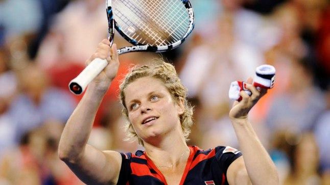 Kim Clijsters sai eile mängida omamoodi vastasega.