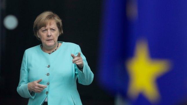 Saksamaa on üks eurobloki rikkamaid riike.Pildil Saksamaa liidukantsler Angela Merkel.