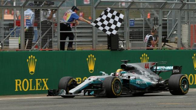 Lewis Hamilton triumfeeris Briti GP-l juba neljandat aastat järjest.