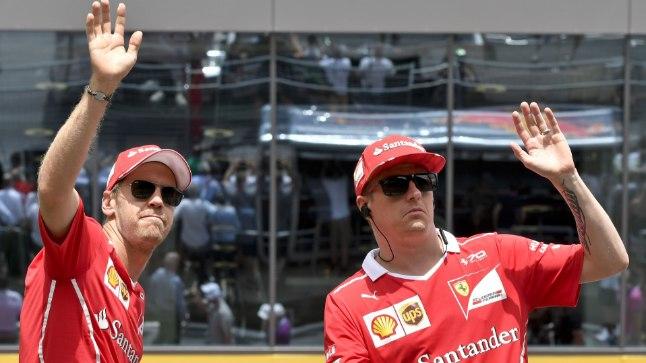 Sebastian Vettel (vasakul) ja Kimi Räikkonen.