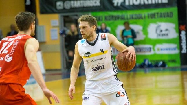 Tartu Ülikooli korvpallimeeskonna mängujuht Tanel Sokk.