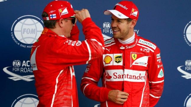 Tänased parimad: Sebastian Vettel (paremal) ja Kimi Räikkonen.