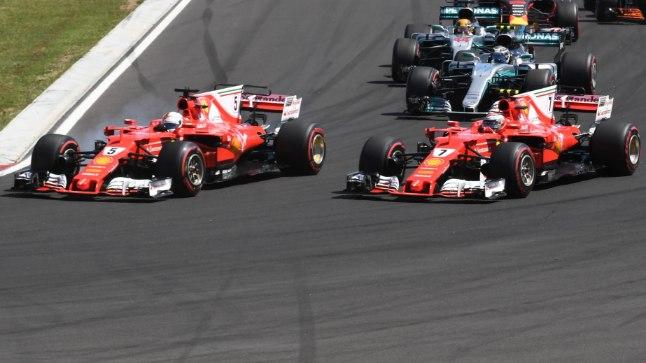 Ferrari piloodid Sebastian Vettel (vasakul) ja Kimi Raikkonen.