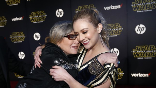 Carrie Fisher tütre Billie Lourdiga