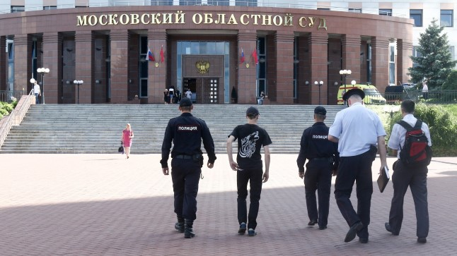 KOHTUPAIK : Kohtupidamine GTA bande liikmete üle toimub Moskva oblasti kohtumajas.