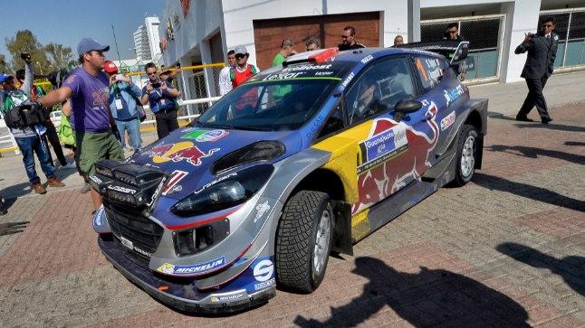 Sebastien Ogier' Ford Fiesta WRC.