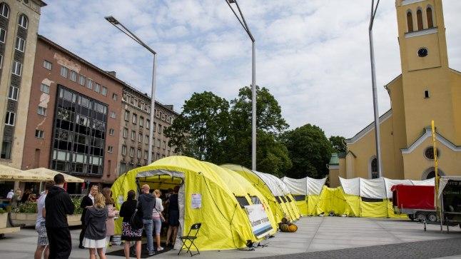 Doonoritelgid Tallinnas Vabaduse väljakul
