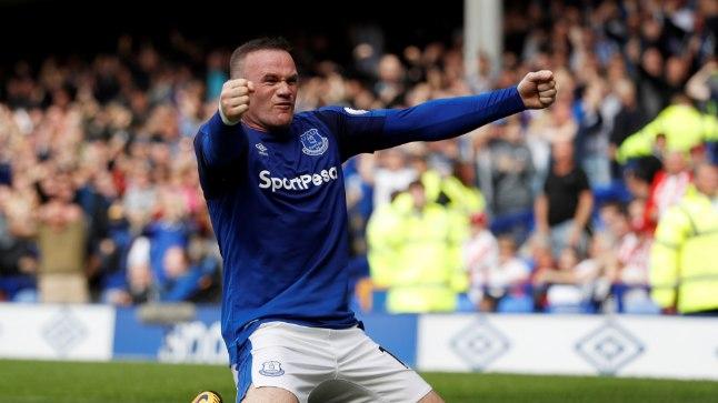 Wayne Rooney väravat tähistamas.