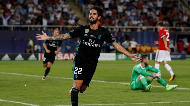 Isco skooris teisipäeval peetud UEFA superkarika mängus Manchester Unitedi vastu. Kes meest ihaldab, peab kirjutama tšeki 700 miljonile eurole.