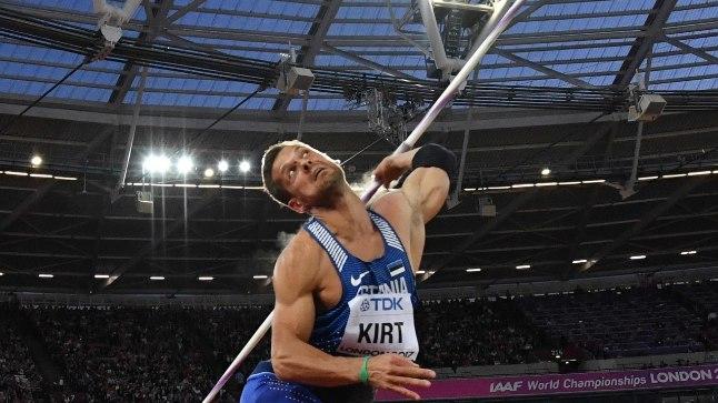 Magnus Kirt Londoni olümpiastaadionil.