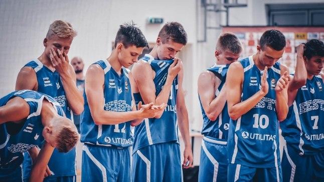 Eesti U16 korvpallikoondis.