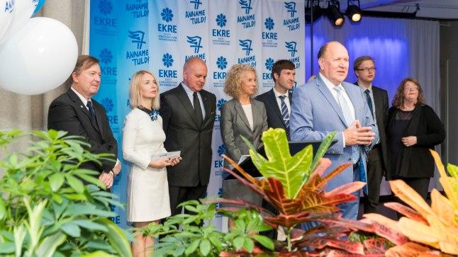 EKRE valimisloosungite tutvustamine Estonia talveaias
