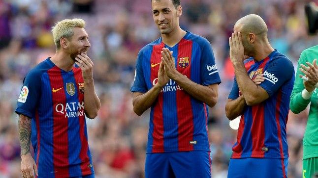 Sergio Busquets (keskel) oleks Manchester Cityle vägev täiendus.